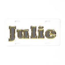 Julie Gold Diamond Bling Aluminum License Plate