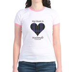 Heart-MacDonald of Clanranald Jr. Ringer T-Shirt