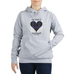 Heart-MacDonald of Clanr Women's Hooded Sweatshirt
