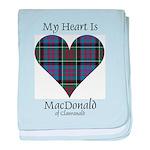 Heart-MacDonald of Clanranald baby blanket