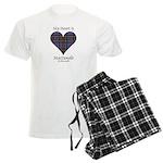 Heart-MacDonald of Clanranald Men's Light Pajamas