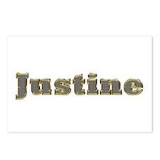 Justine Gold Diamond Bling Postcards 8 Pack