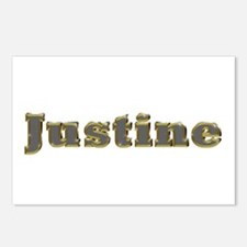 Justine Gold Diamond Bling Postcards 8 Pack