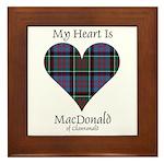 Heart-MacDonald of Clanranald Framed Tile