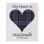 Heart-MacDonald of Clanranald Throw Blanket