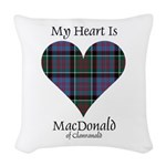 Heart-MacDonald of Clanranald Woven Throw Pillow