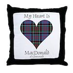 Heart-MacDonald of Clanranald Throw Pillow