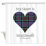 Heart-MacDonald of Clanranald Shower Curtain