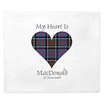 Heart-MacDonald of Clanranald King Duvet