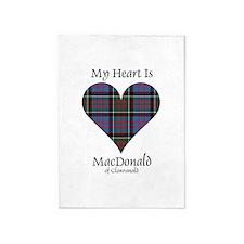 Heart-MacDonald of Clanranald 5'x7'Area Rug