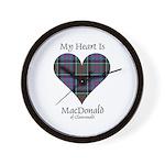 Heart-MacDonald of Clanranald Wall Clock