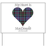 Heart-MacDonald of Clanranald Yard Sign