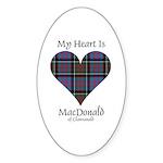 Heart-MacDonald of Clanranald Sticker (Oval 50 pk)