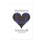 Heart-MacDonald of Clanr Sticker (Rectangle 50 pk)