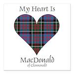 Heart-MacDonald of Clanr Square Car Magnet 3