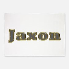 Jaxon Gold Diamond Bling 5'x7' Area Rug