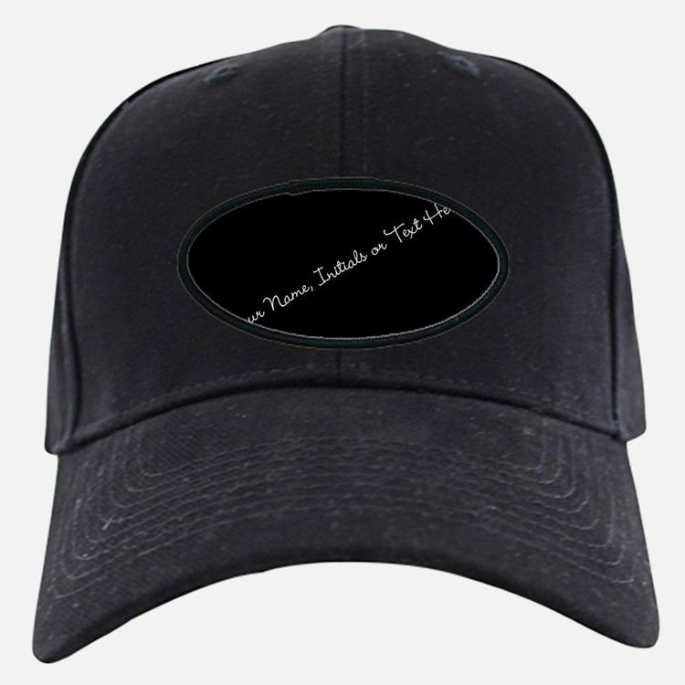 Your Name, Initials or Text Here Baseball Hat