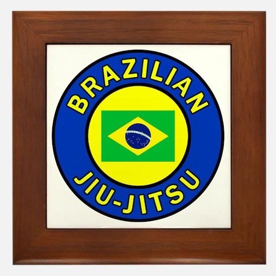 Brazilian Jiu-Jitsu Framed Tile