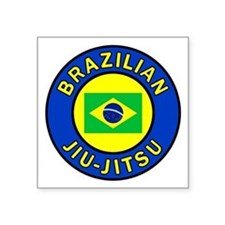 "Brazilian Jiu-Jitsu Square Sticker 3"" x 3"""