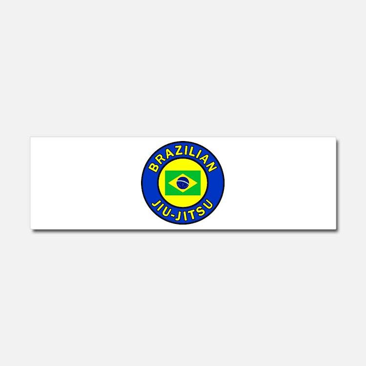 Brazilian Jiu-Jitsu Car Magnet 10 x 3