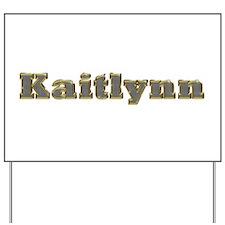 Kaitlynn Gold Diamond Bling Yard Sign