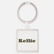 Kellie Gold Diamond Bling Square Keychain