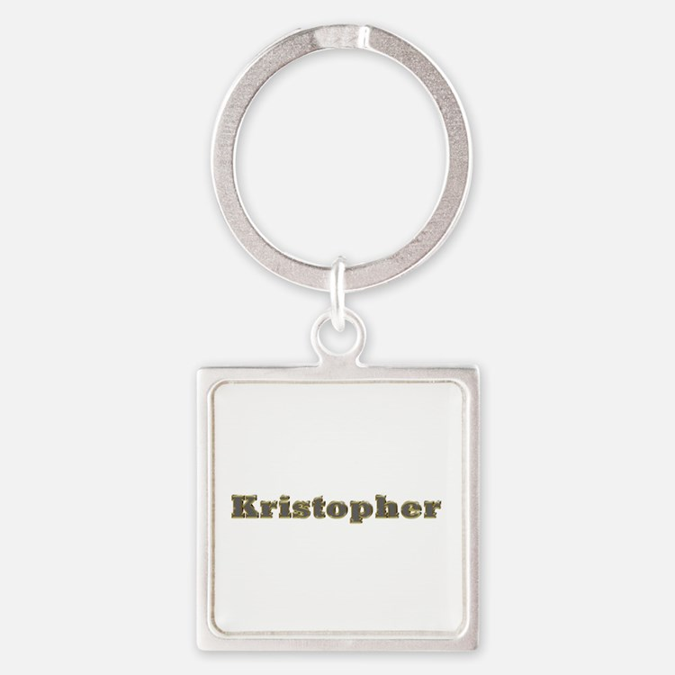 Kristopher Gold Diamond Bling Square Keychain