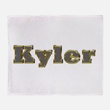 Kyler Gold Diamond Bling Throw Blanket