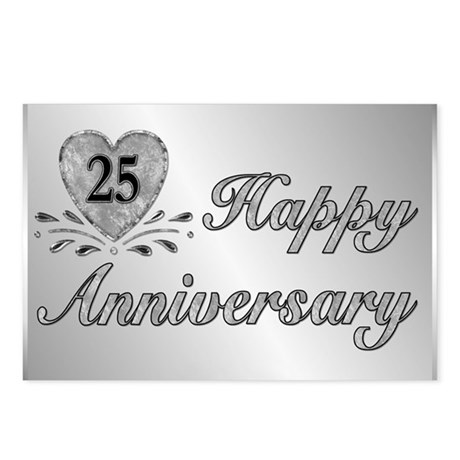 25th Anniversary - Silver Postcards (Package of 8)