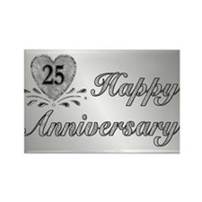 25th Anniversary - Silver Rectangle Magnet