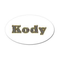Kody Gold Diamond Bling Wall Decal