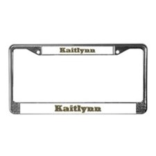 Kaitlynn Gold Diamond Bling License Plate Frame