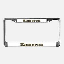 Kameron Gold Diamond Bling License Plate Frame