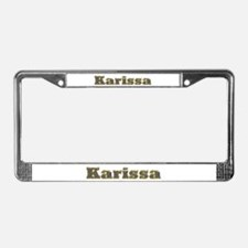 Karissa Gold Diamond Bling License Plate Frame
