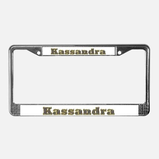 Kassandra Gold Diamond Bling License Plate Frame
