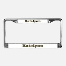 Katelynn Gold Diamond Bling License Plate Frame