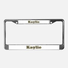 Kaylie Gold Diamond Bling License Plate Frame