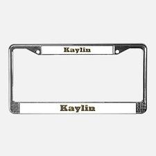 Kaylin Gold Diamond Bling License Plate Frame