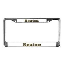 Keaton Gold Diamond Bling License Plate Frame