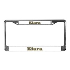 Kiara Gold Diamond Bling License Plate Frame