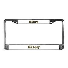 Kiley Gold Diamond Bling License Plate Frame