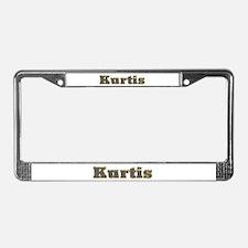 Kurtis Gold Diamond Bling License Plate Frame