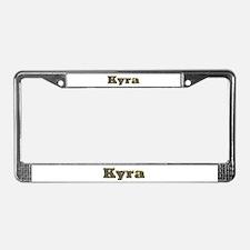 Kyra Gold Diamond Bling License Plate Frame