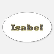 Isabel Gold Diamond Bling Oval Decal