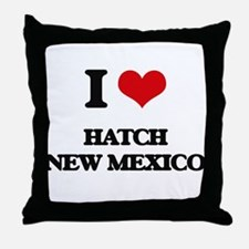 I love Hatch New Mexico Throw Pillow