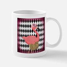 Pink Flamingo Lady Diamonds Mugs
