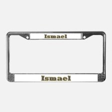 Ismael Gold Diamond Bling License Plate Frame