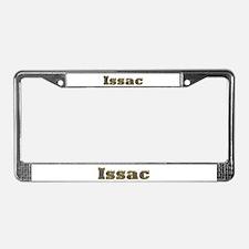 Issac Gold Diamond Bling License Plate Frame