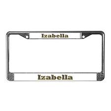 Izabella Gold Diamond Bling License Plate Frame