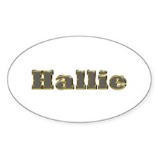 Hallie Gold Diamond Bling Oval Decal